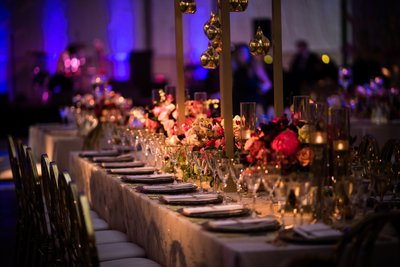 Wedding Reception Decor at the Barnes Foundation
