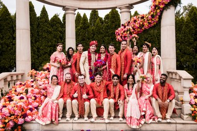 Large Group Portraits at Indian Weddings