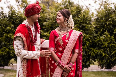 First Look Photos with Indian Couple