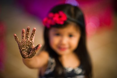Little Girl With Henna
