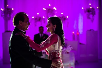 Bride and Father Dance at Indian Wedding