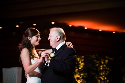Bride and Dad Dance at Kimmel Center Reception