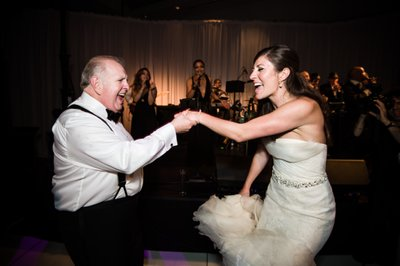 Bride Dancing with Dad at Kimmel Center Reception