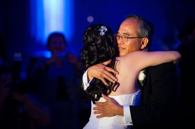Bride and Father's Dance at Franklin Institute