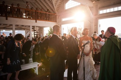 Wedding Ceremony at Bonnet Island Estate
