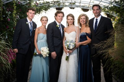 Formal Family Portraits at Bonnet Island Wedding