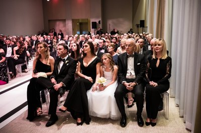 Guests at Four Seasons Hotel Wedding Ceremony