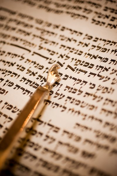 Torah Scroll with Pointer