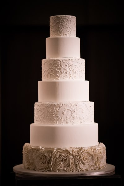 Seven Tier White Wedding Cake