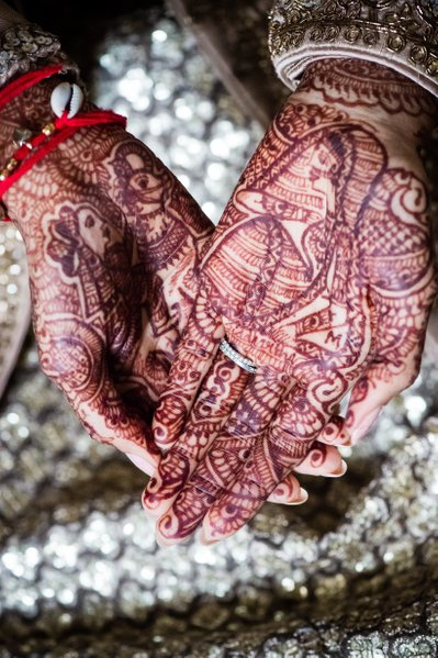 Henna Decorations on Hands