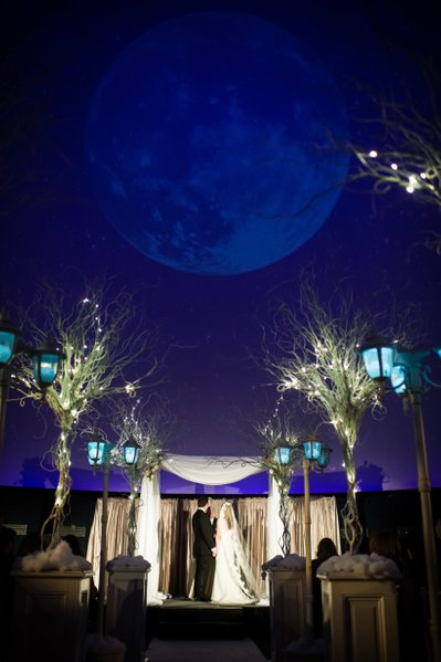 Franklin Institute Wedding Ceremony in Planetarium