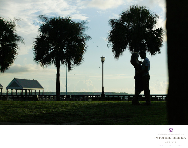 Engagement At Waterfront Park Charleston Sc