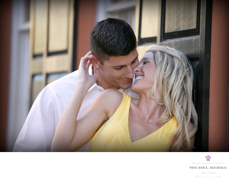 King Street Charleston Engagement Photographer