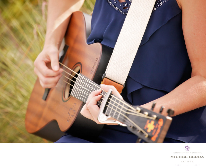 Music wedding ceremony at Sea Side Point Wild Dunes Resort