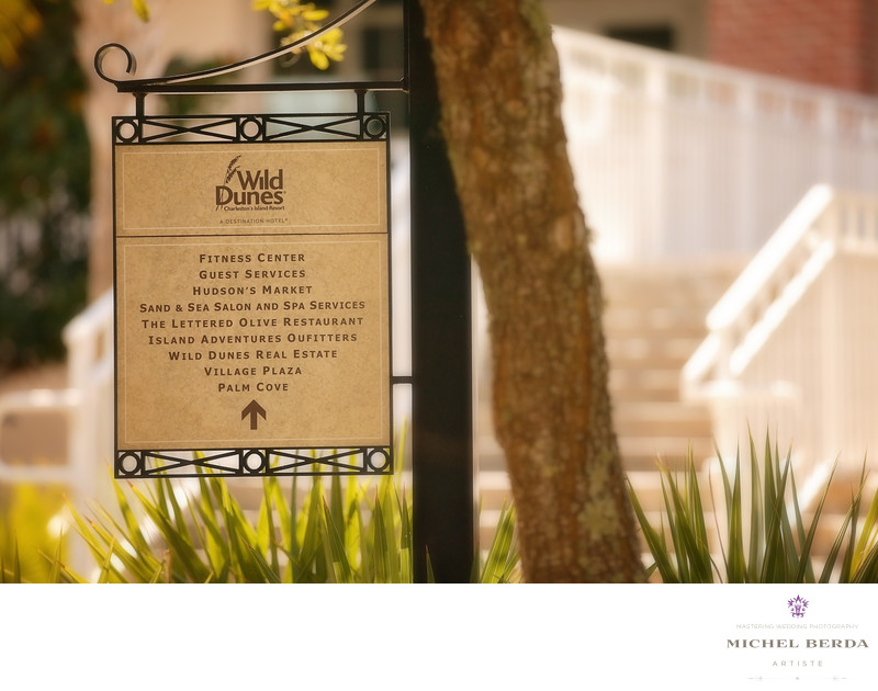 Wild Dunes Resort Wedding sign