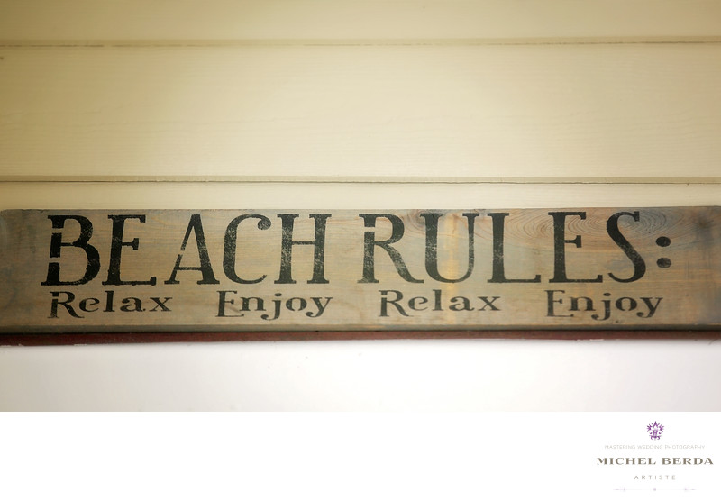 Beach rules sign Wild Dunes Resort Wedding