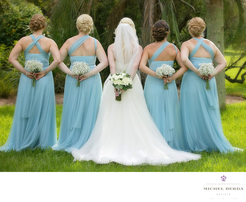Bride and bridesmaids flower photo Wild Dunes Resort Wedding