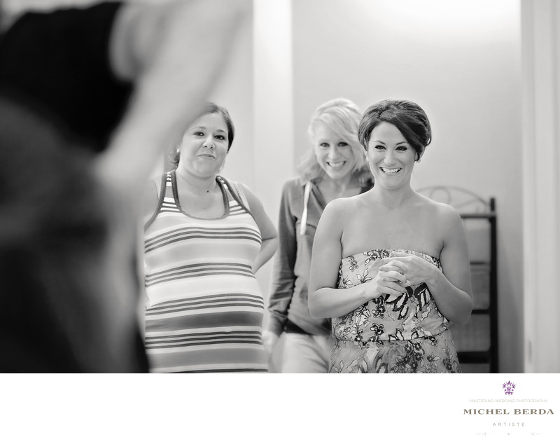 Bridesmaids dressing room Dunes West Golf & River Club