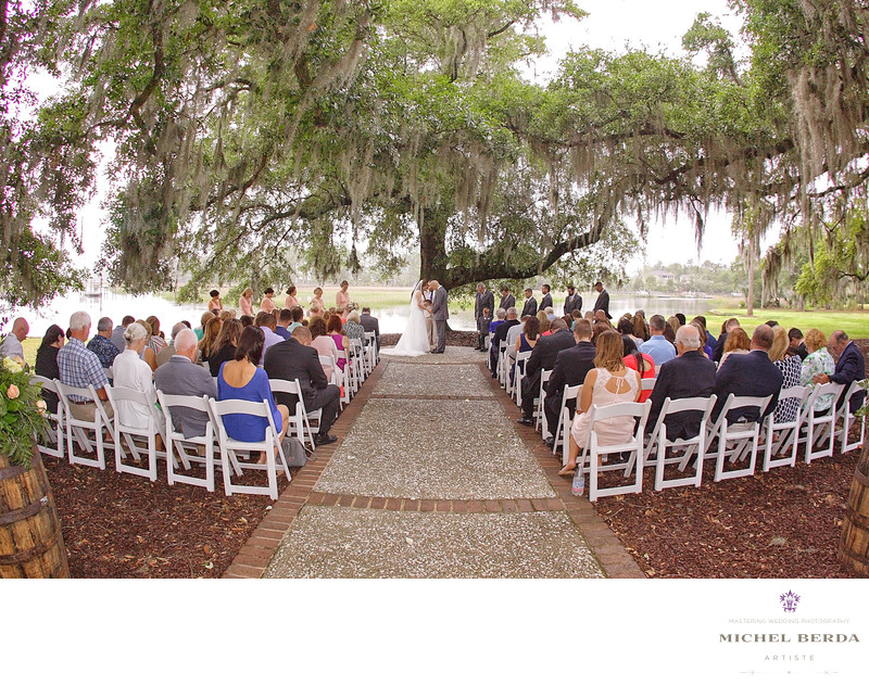 Ceremony oak tree Dunes West Golf & River Club