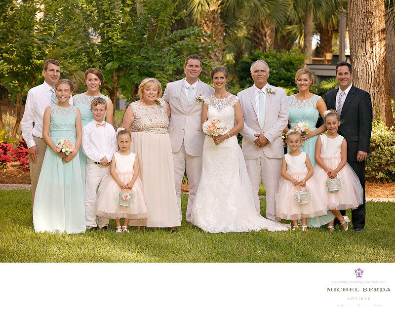 Family portrait Weddings Palmetto Dunes Oceanfront Resort