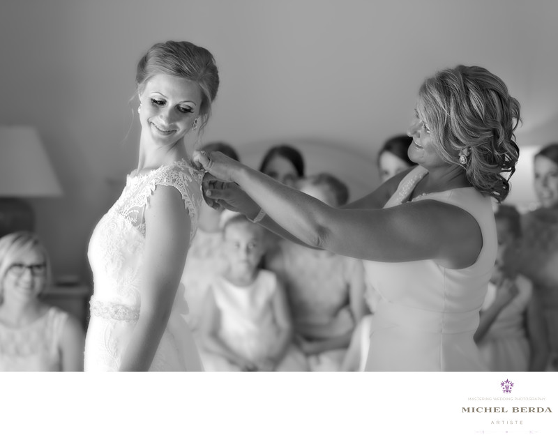 Mom and bride getting ready Weddings Palmetto Dunes Oceanfront Resort