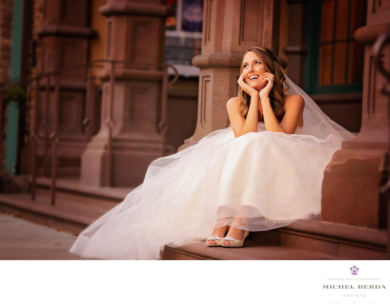 Dock Street Theater bridal portrait photographers