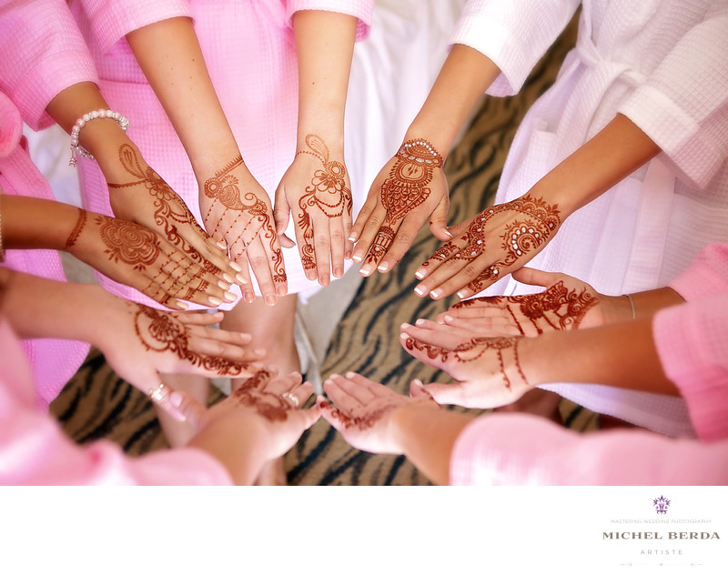The bride & bridesmaids Henna