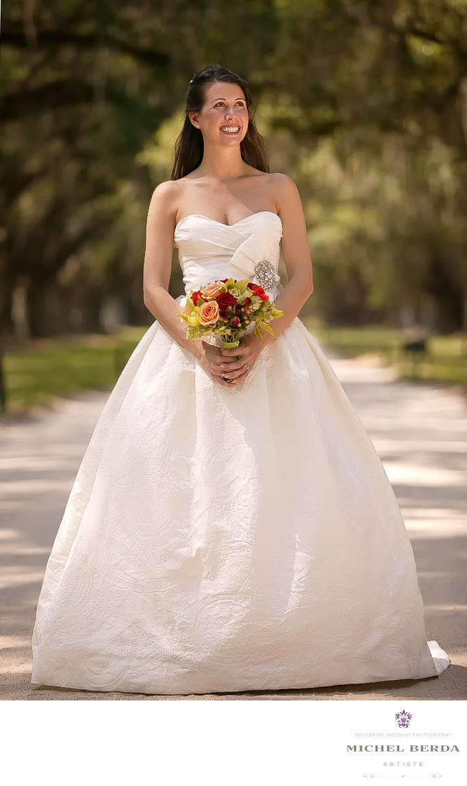 Boone Hall Plantation Bridal Portrait