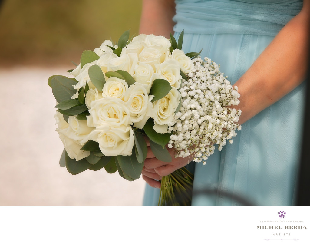 Flowers detailswedding ceremony at Sea Side Point Wild Dunes Resort