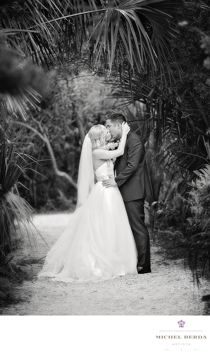 Bride And Groom Kiss wedding ceremony at Sea Side Point Wild Dunes Resort