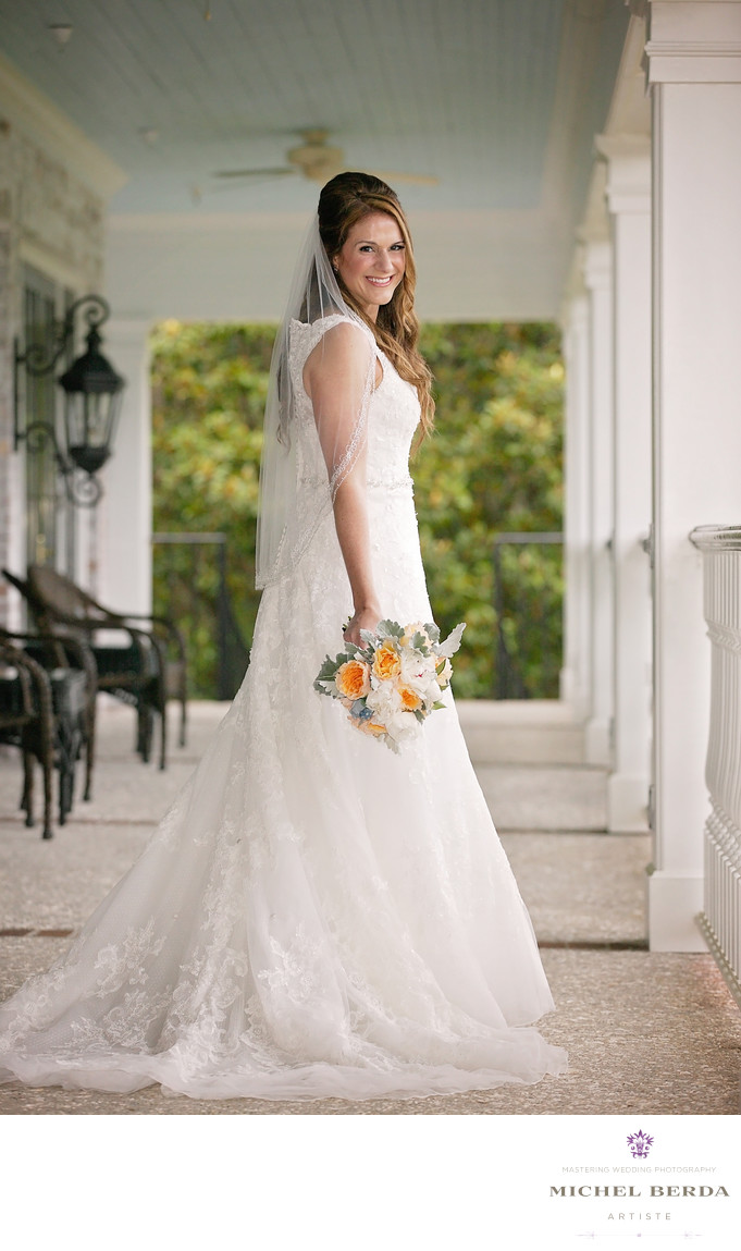 Bridal Portrait at Dunes West Golf & River Club