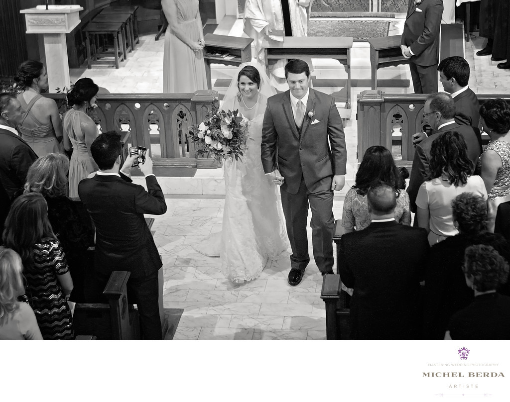 Bride & Groom B&W Stella Maris