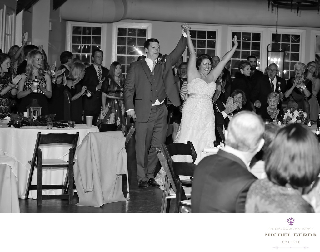 Bride & Groom Introduction B&W Alhambra Hall