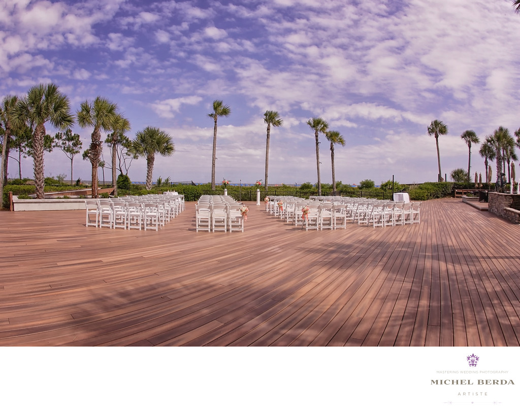 The Pavillion deck ceremony THE WESTIN HILTON HEAD ISLAND RESORT & SPA