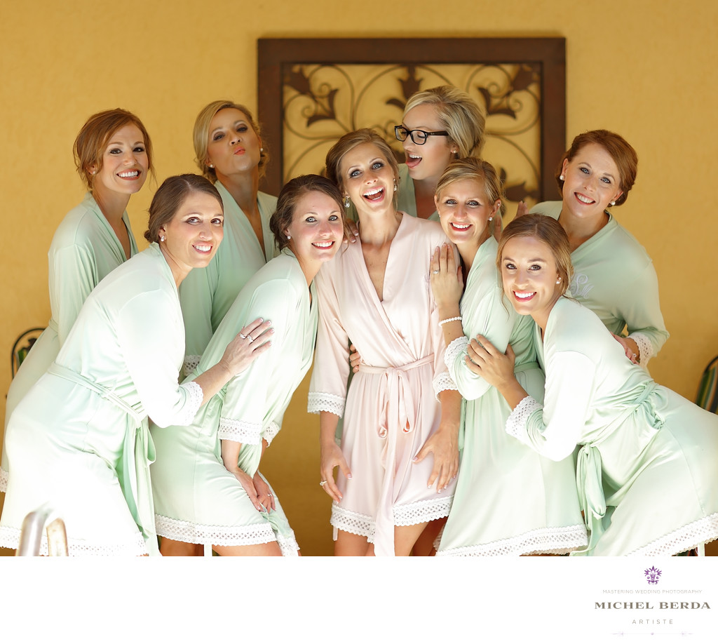 Bride and bridesmaids Weddings Palmetto Dunes Oceanfront Resort