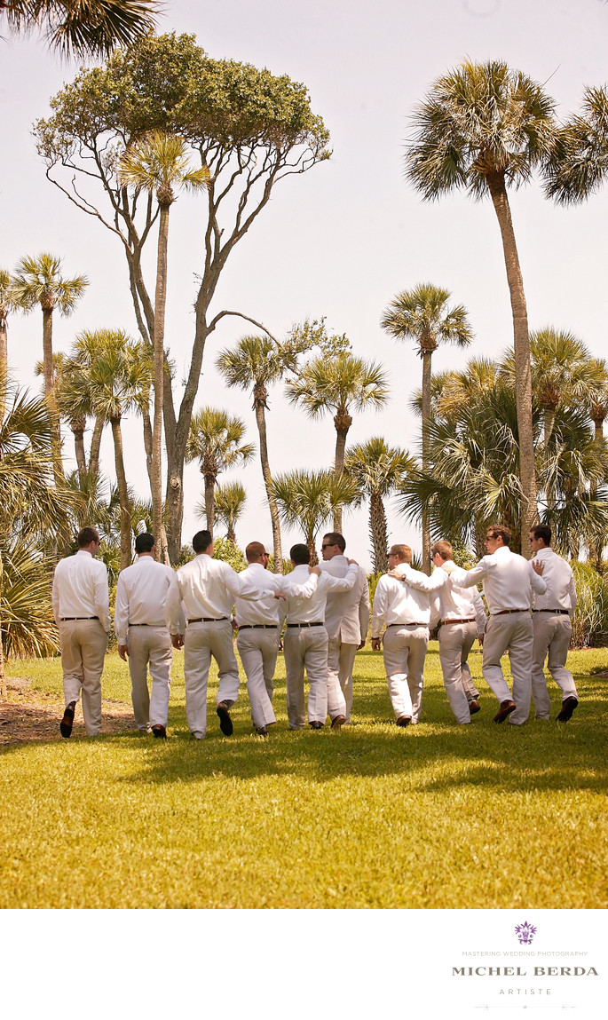 Groom and groomsman Weddings Palmetto Dunes Oceanfront Resort