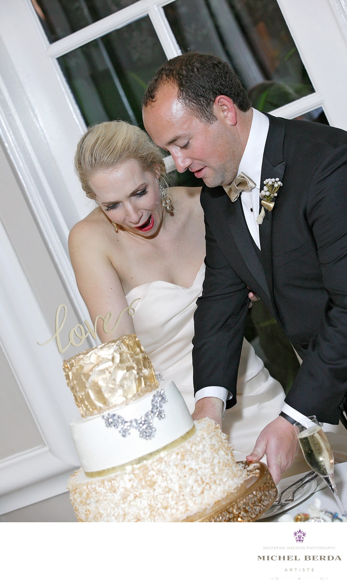 Cake Cuting Bride The Mills House Wyndham Grand Hotel Charleston SC
