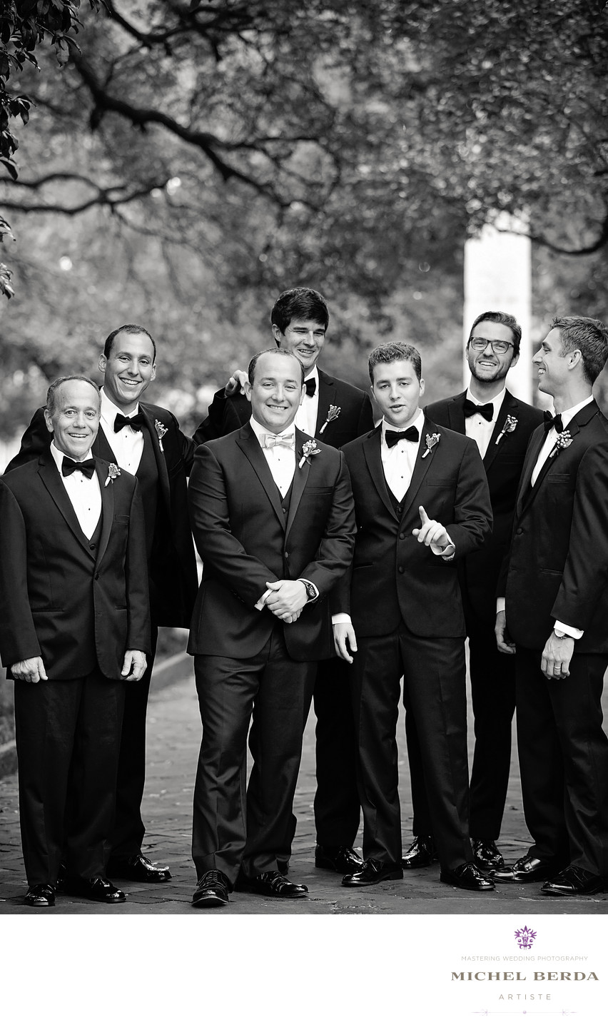 Groomsmen Washington Square Park Charleston SC