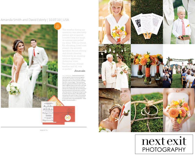 Fall Colors Wedding Feature