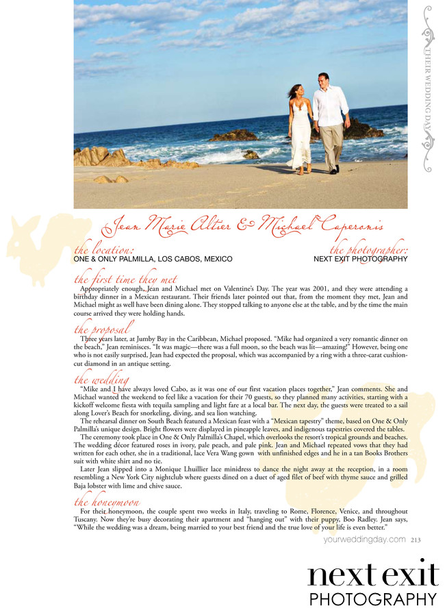 Palmilla Wedding Walking on the Beach