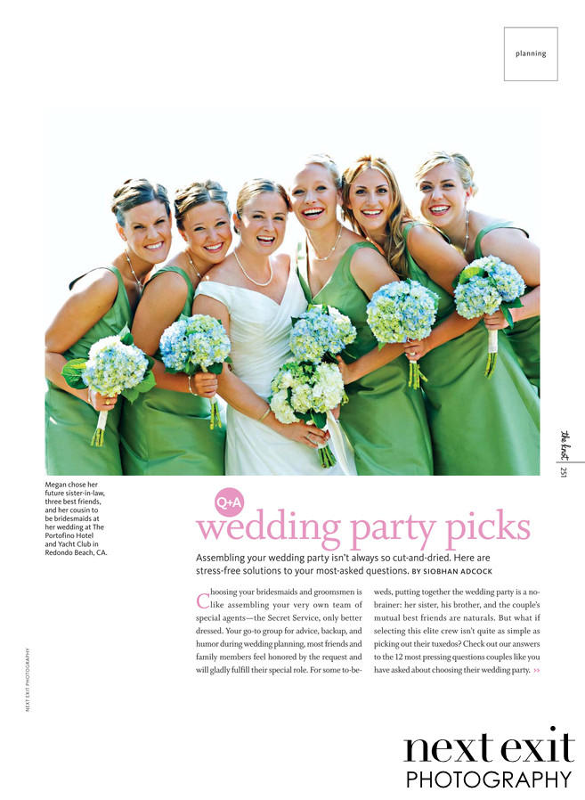 Knot Magazine Green Bridesmaid Dresses