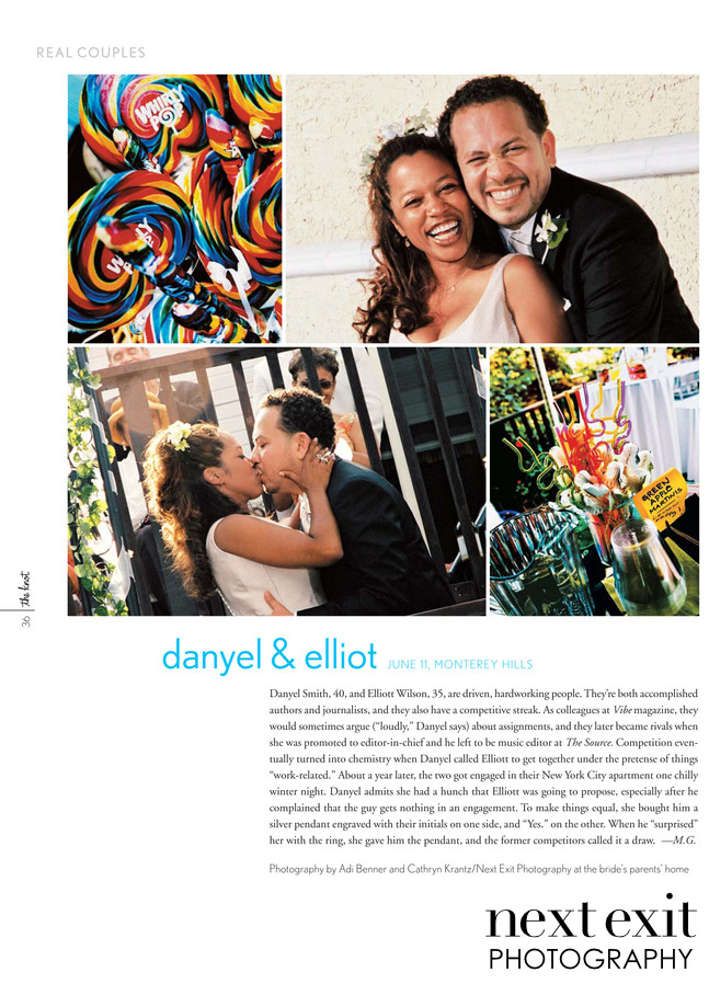 Danyel Smith and Elliott Wilson Wedding Knot Feature