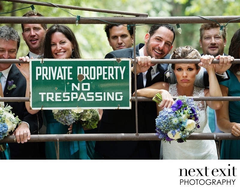 Private Property: NO TRESPASSING Wedding Photography