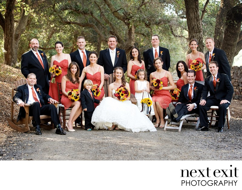 Saddlerock Ranch Wedding Bridal Party