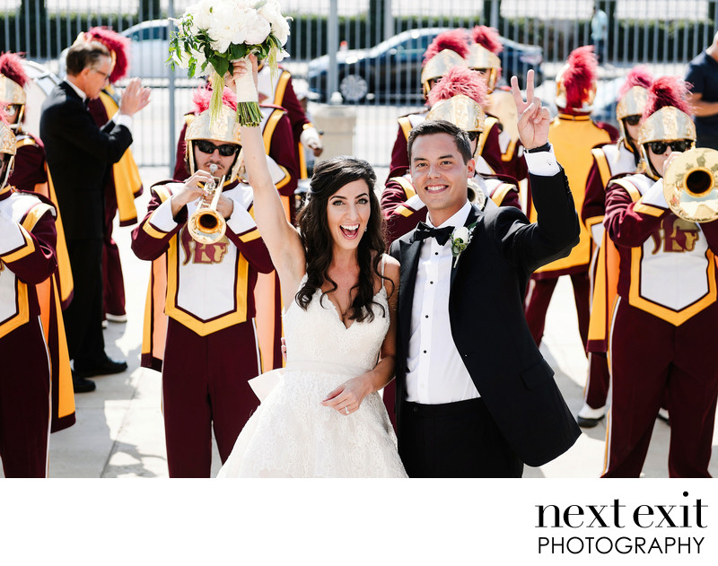 USC Marching Band Wedding Portrait - Fight On!