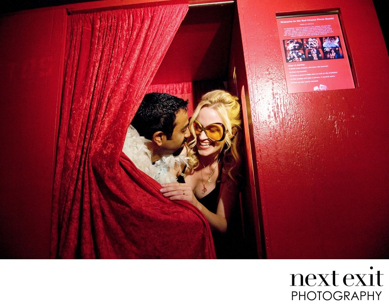 Fun Photo Booth Wedding Photography