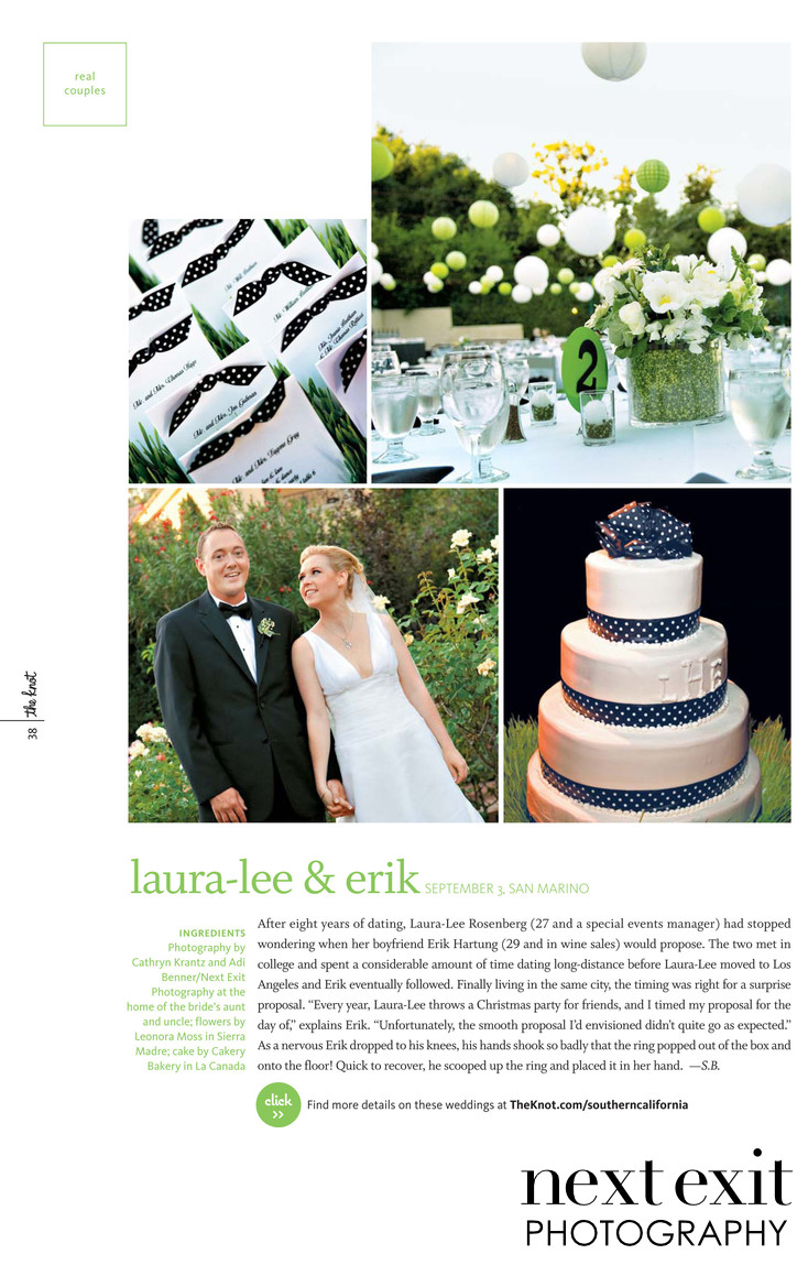 Knot Magazine Knot Feature Pasadena Wedding