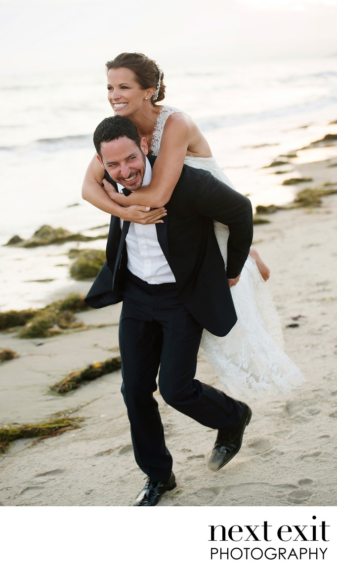Fun Beach Wedding Photographer Los Angeles
