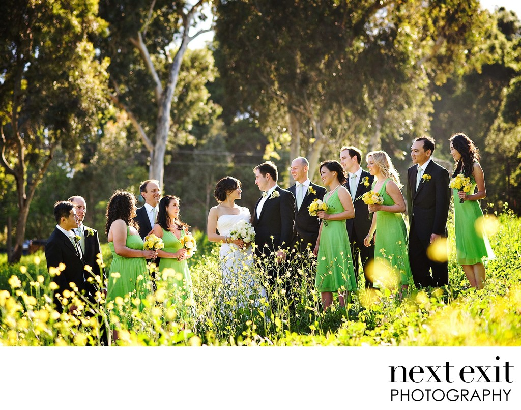 Bridal Party in Flowers - Los Angeles Wedding, Mitzvah & Portrait Photographer - Next Exit Photography