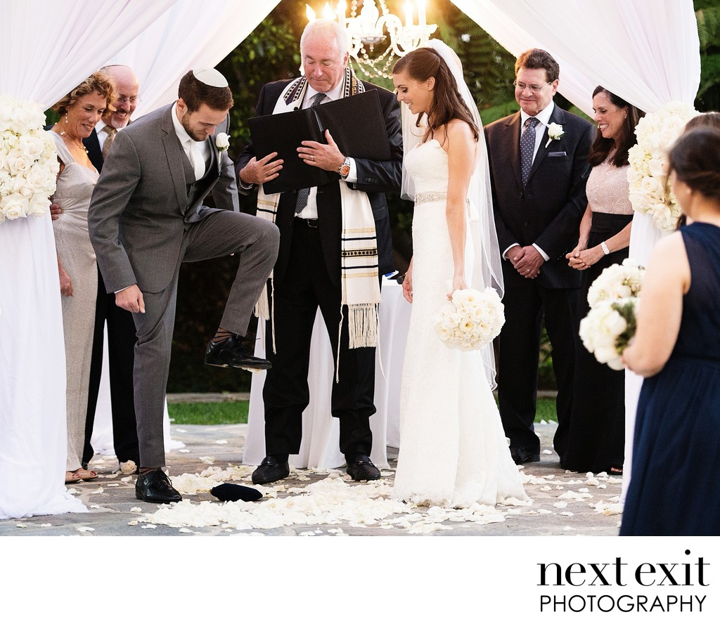 Breaking of the Glass - Los Angeles Wedding, Mitzvah & Portrait Photographer - Next Exit Photography